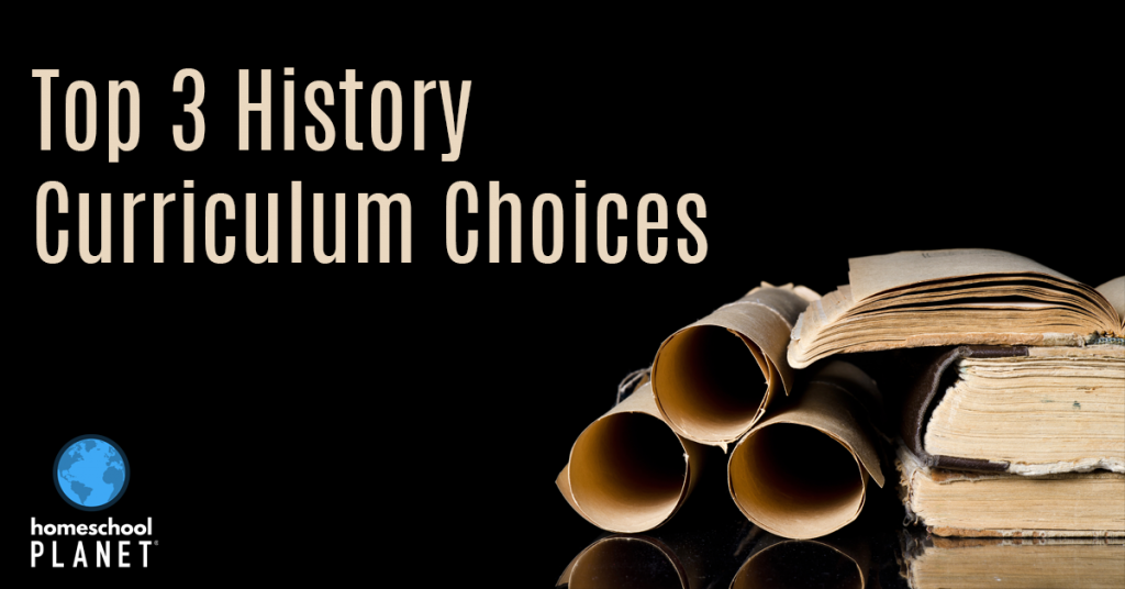 Homeschool Planet History Curriculum Choices Blogspot button