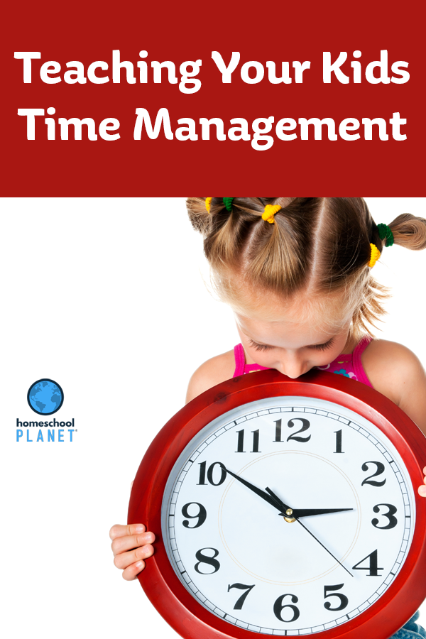 Homeschool Planet Teaching your kids Time Management Blogspot button