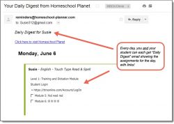 Homeschool Planet TTRS Daily Digest button