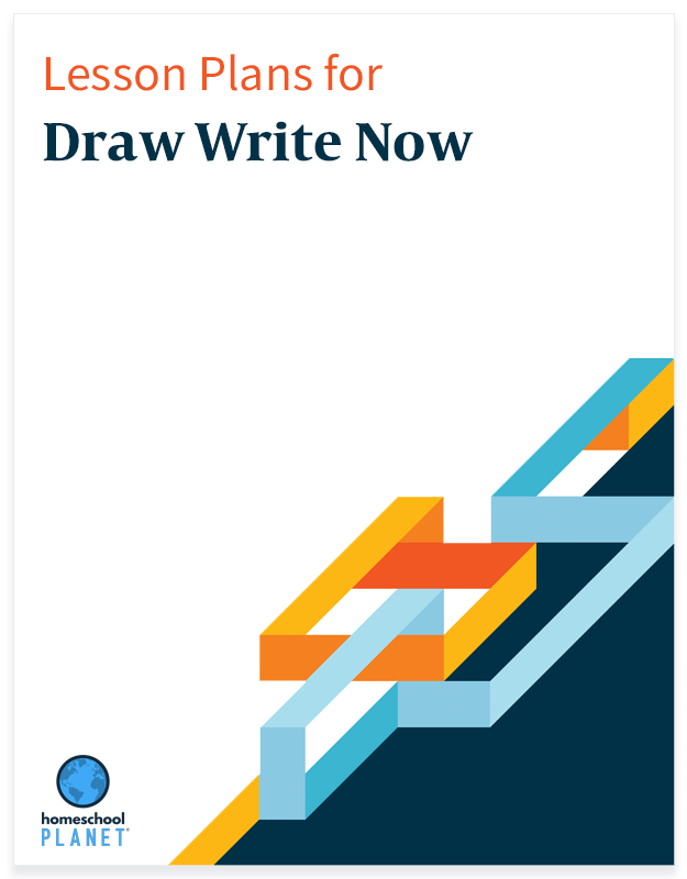 Homeschool Planner Draw Write Now lesson plans button