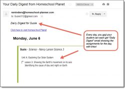 Homeschool Planet Nancy Larson Daily Digest button