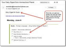 Homeschool Planet Song School Spanish Daily Digest button