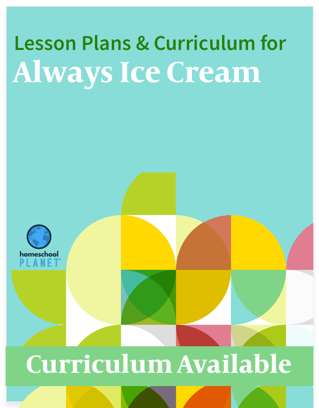 Homeschool Planner Always Ice Cream lesson plans and curriculum button