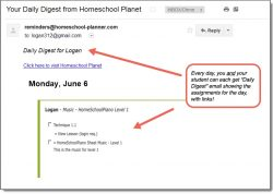 Homeschool Planet Piano Daily Digest button