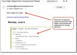 Homeschool Planet Jim Hodges daily digest button