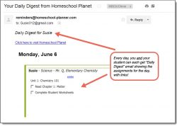 Homeschool Planet Mr. Q Daily digest button