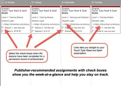 Homeschool Planet lesson plan weekly view button