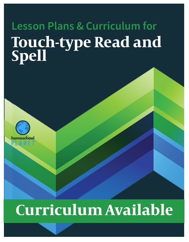 Homeschool Planet Touch-Type Read and Spell lesson plans and curriculum button