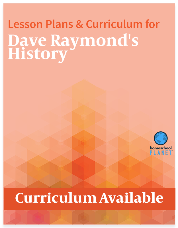 Homeschool Planet Dave Raymond's History lesson plans and curriculum button