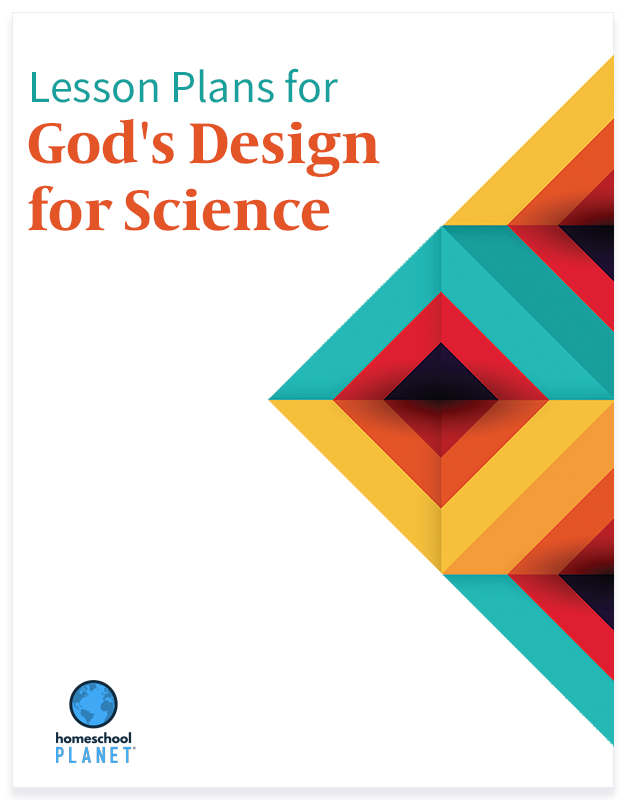 Homeschool Planner God's Design for Science lesson plans button