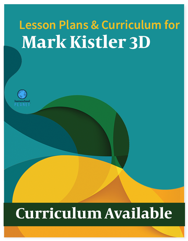 Homeschool Planet Mark Kistler 3D lesson plans and curriculum button