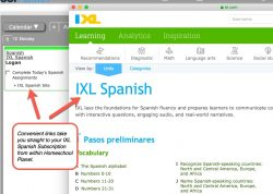 IXL Spanish Pop-up