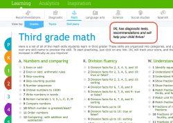 Screenshot view of IXL Math website