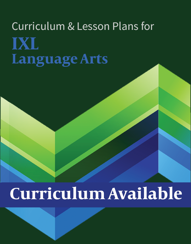Homeschool Planner IXL Language Arts lesson plans and curriculum button