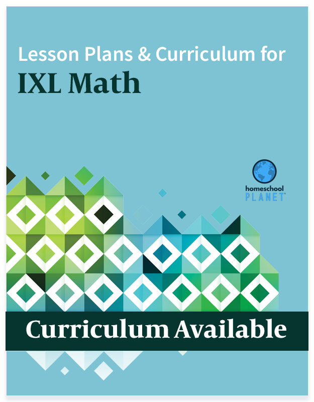 Homeschool Planner IXL Math lesson plans and curriculum button