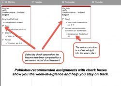 Homeschool Planet Shakespeare weekly view button
