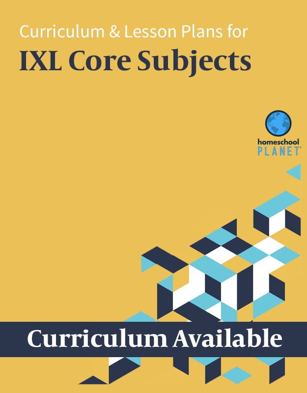 Homeschool Planner IXL Core Subjects lesson plans and curriculum button
