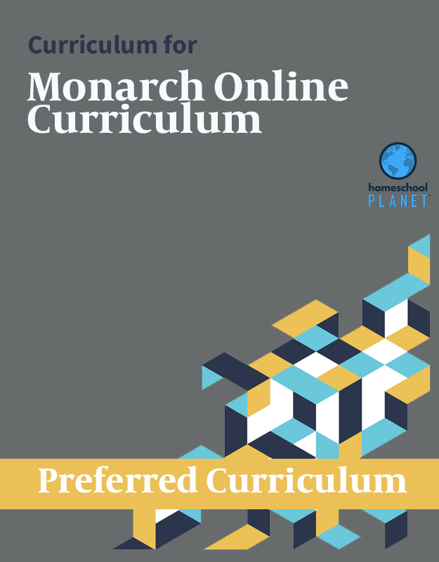 Curriculum button for Homeschool Planet Monarch Online Curriculum