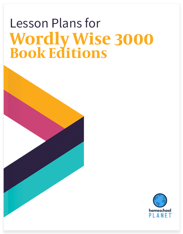 Homeschool Planet Wordly Wise 3000 Book Editions lesson plans button