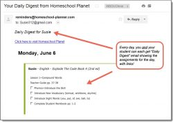 Homeschool Planet Explode the Code Daily Digest button