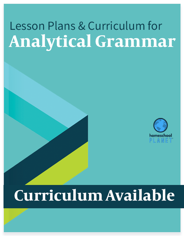 Homeschool Planner Analytical Grammar lesson plans and curriculum button