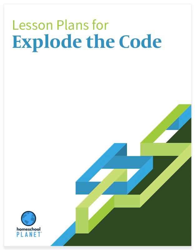 Explode the Code lesson plans button for Homeschool Planet