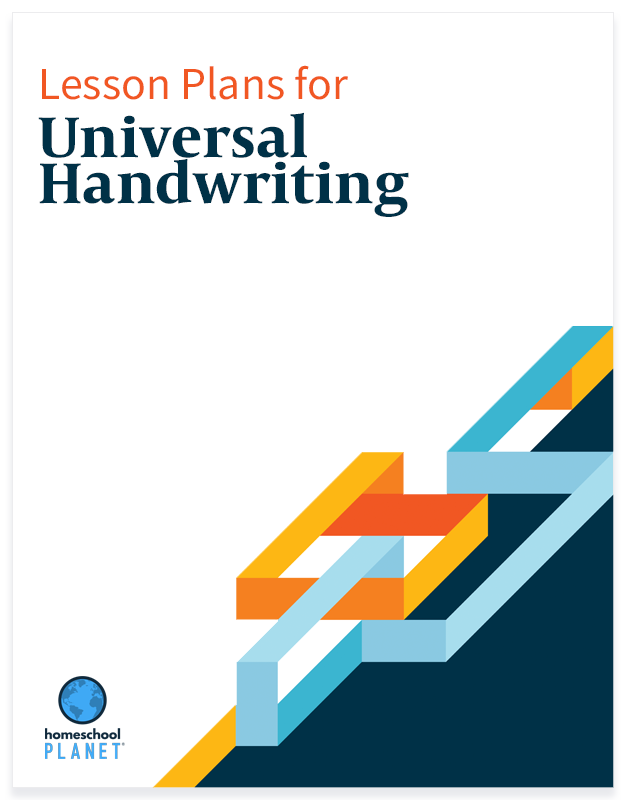 Homeschool Planet Universal Handwriting lesson plans button