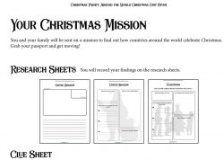 Click to see Research Sheets for Christmas Planet