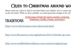 Screenshot page full of links for several topics about each country covered by Christmas Planet