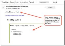 Homeschool Planet Shurley English Daily Digest button