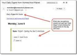 Homeschool Planet Spelling You See Daily Digest button