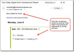 Homeschool Planet ACSI Math Daily Digest button