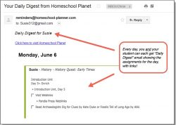 Homeschool Planet Pandia Press Daily Digest button