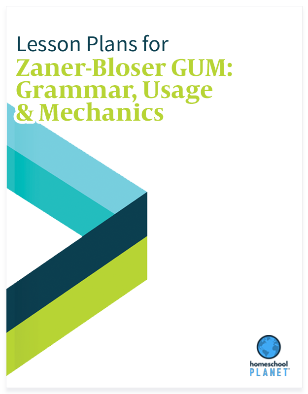 Homeschool Planet Zaner-Bloser GUM: Grammar, Usage & Mechanics lesson plans button