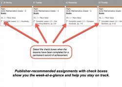 Homeschool Planet ACSI Math weekly view button
