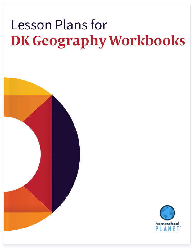 Homeschool Planner DK Geography Workbooks lesson plans button