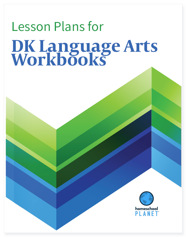 Homeschool Planner DK Language Arts Workbooks lesson plans button