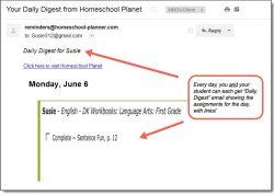 Homeschool Planet DK Language Arts Daily Digest button