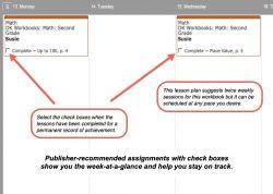 Homeschool Planner DK Math weekly view button