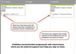 Homeschool Planner DK Science weekly view button