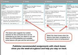 Homeschool Planner WTM Grammar weekly view button