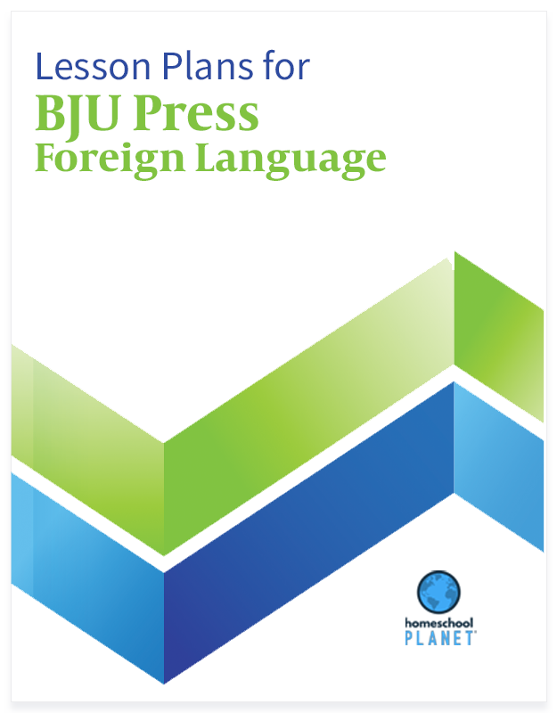 Homeschool Planner BJU Press Foreign Language lesson plans button