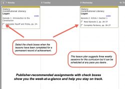 Homeschool Planner Constitutional Literacy weekly view button