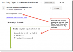Homeschool Planet Spellwell Daily Digest button