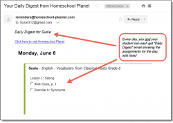 Homeschool Planet Vocab from Classical Roots Daily Digest button