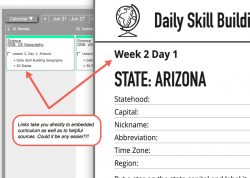 Daily Skill Building Geography Pop-up
