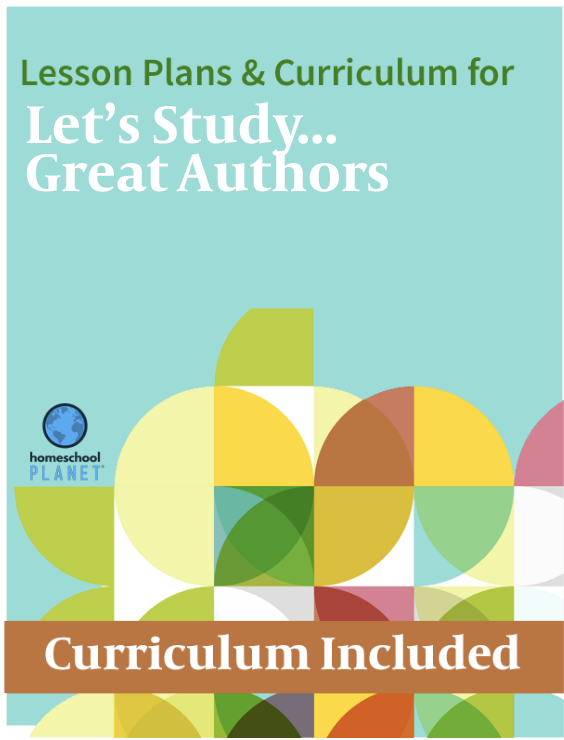 Homeschool Planner Let's Study Great Authors lesson plans and curriculum button