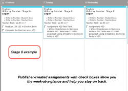 Homeschool Planner Write By Number Stage 8 weekly view button