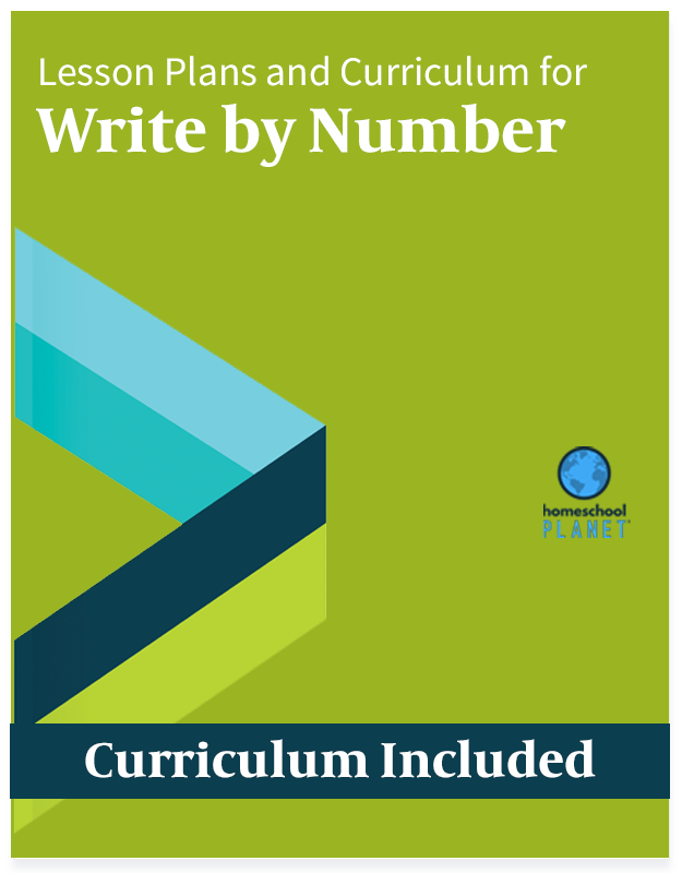 Homeschool Planet Write by Number lesson plans and curriculum button