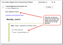 Homeschool Planner Applications of Grammar Daily Digest button